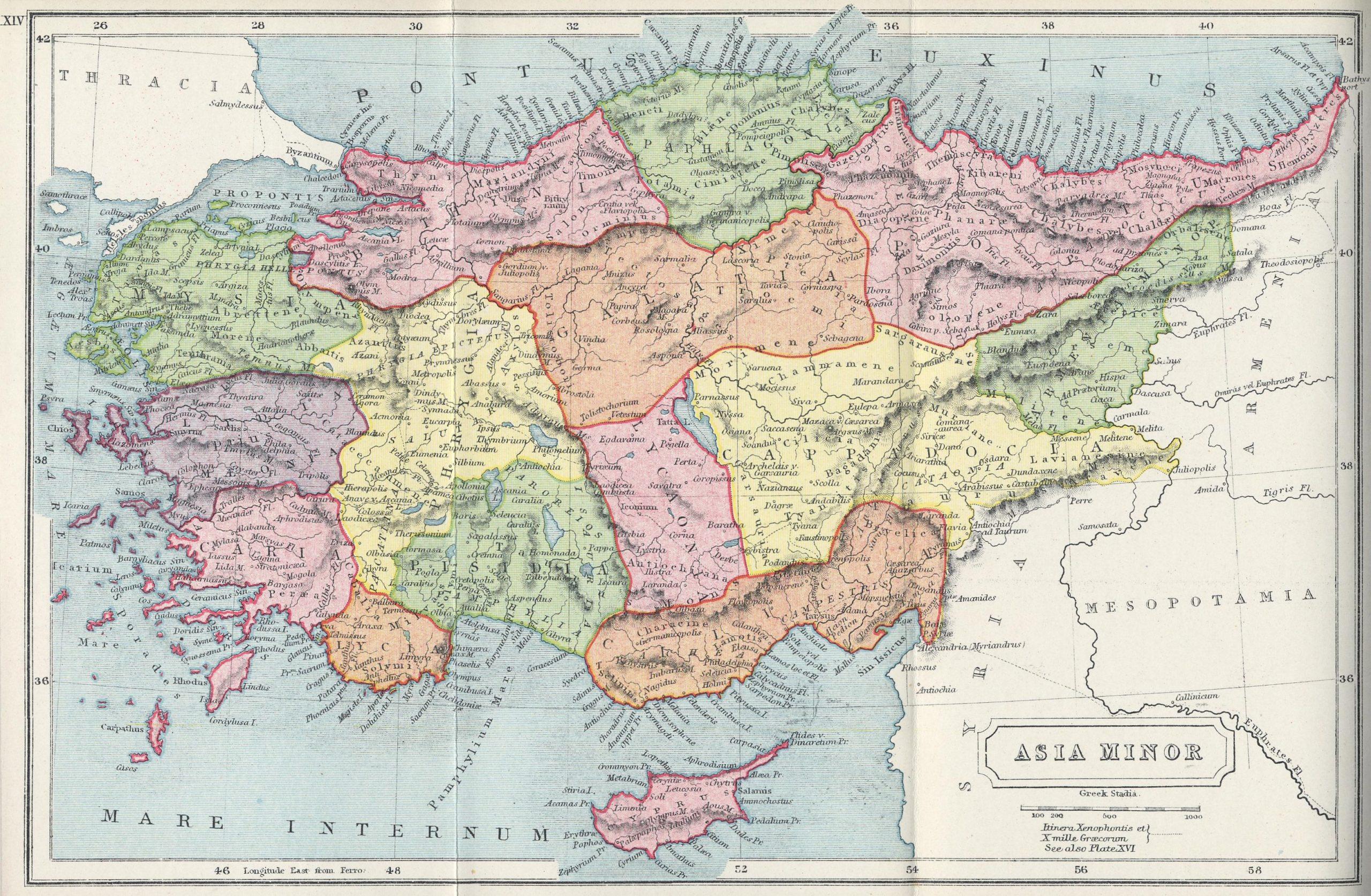 Azja mniejsza mapa